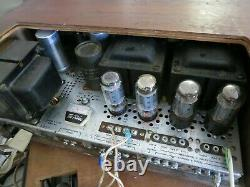 1962 Fisher Kx-200 Stereo Tube Integrated Amplifier Orig Manuals & Cabinet