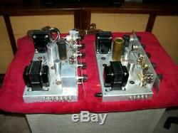 2 Vintage Pilot Mono Integrated Amps. Very Similar, Tube Type Parts Or Fixers