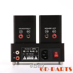 APPJ PA1501A Mini 6AD10 Vacuum Tube Amplifier Vintage Integrated Power AMP Black