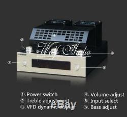 Bluetooth 4.0 HiFi Vacuum Tube Amplifier Stereo Class AB High-power Audio Amp