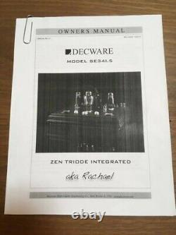 Decware Model SE341.5 Zen Triode Integrated Stereo Tube Amplifier