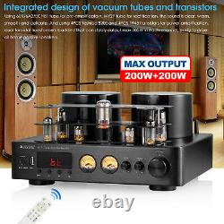 Douk Audio Hybrid Stereo Tube Integrated Amplifier with Bluetooth USB COAX OPT