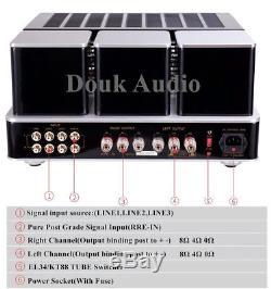 EL34/KT88 Vacuum Tube Power Amplifier Stereo HiFi Headphone Remote Amp 45W2