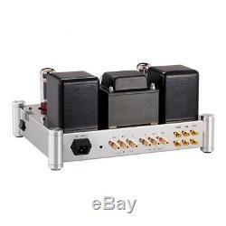 EL34 Vacuum Tube Amplifier HiFi Push-pull Integrated Power Amp 35W AUX CD TAPE