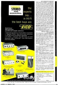 Eico HF-81 EL84 Integrated Stereo Tube Amplifier with HFT-90 Tuner SEE DEMO