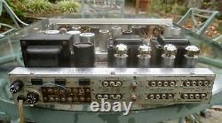 FISHER X-202-B Integrated 7591 Tube Amp restored, walnut cabinet