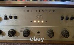 FISHER amplifier X-202-B stereo integrated tube amp vintage 1960's