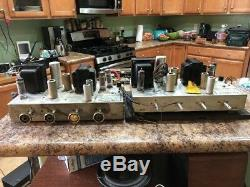 Fisher 510-ST Pair of Vintage Tube Mono Amplifiers EL84 (6BQ5) L@@K