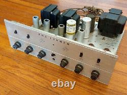 Fisher X-100-B Tube Stereo Integrated Amplifier with Phono Works, Needs Tubes