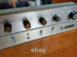 Fisher X-100-C Tube Stereo Integrated Amplifier with Phono Works, Needs Tubes