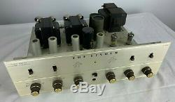 Fisher X-100b Stereo Tube Integrated Amplifier Serviced Tested Sounds Superb