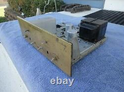 Fisher X-101 Stereo Integrated Tube Amplifier 7189 Output Tubes (the 101) Brass