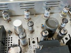 H. H. Scott 222-B Tube Integrated Amplifier with Phono Works, Vintage Tubes