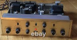 H. H. Scott 222 Type Stereo Master Tube Integrated Amplifier Amp Excellent