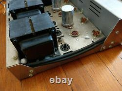 H. H. Scott 299-C Tube Integrated Amplifier with Phono Works, Needs Tubes