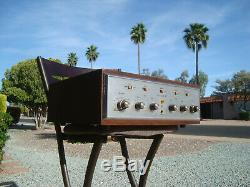 H H Scott Stereomaster 200b Tube Integrated Amplifier W Case Original Working