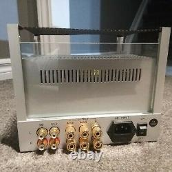 Jolida Glass FX10 Stereo Tube Integrated Amplifier, silver, with remote