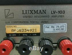 LUXMAN LV-103 Stereo Integrated Amplifier Japan Tube Pre Cherry