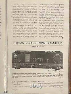 Luxman LV105 Tube Hybrid Amplifier and AV system