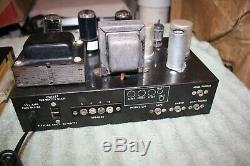 PAIR VINTAGE 50s GROMMES LITTLE JEWEL MONO TUBE INTEGRATED AMPLIFIERS -SEE VIDEO