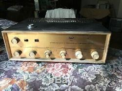 PILOT 240 TUBE INTEGRATED AMPLIFIER VINTAGE STEREO Untested