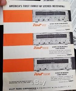 Pilot 602S Stereo Receiver Am/Fm Tube Amplifier Vintage El84 12ax7 Works-Video