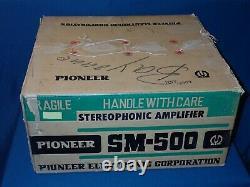 Pioneer SM-500 Tube Integrated Amplifier, Original Box, Mullard 7189, Serviced
