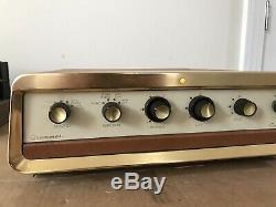 Rare Vintage Grommes 24PG Stereo Tube Integrated Amplifier EL84 Telefunken Work