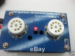 Stereo 6E1 EM80 UM80 EM81 UM81 magic eye indicator tube vu meter pcb assembled