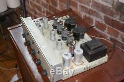 Superb Bogen AP-35 Vintage Tube Stereo Integrated Amplifier Matched 7408s