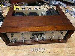 The Fisher X-1000 Tube Stereo Integrated Amplifier 4 6ca7 El34 Amperex Tubes
