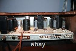 The Fisher X-100-2 Integrated Tube Amplifier As Is, For Parts or Repair