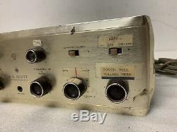 VTG H. H. Scott 222c Stereomaster Tube Integrated Amplifier Amp 1959 Parts/Repair