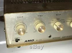 Vintage AMD Electronics 36-110 integrated tube amp Stereo Amplifier Sold No Work