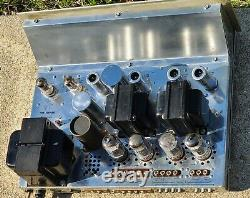 Vintage Fisher X-100-B Integrated Stereo Tube Amplifier Works Perfect