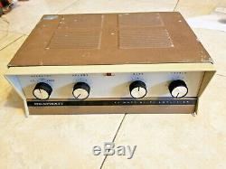 Vintage Heathkit AA-13 14watt tube amplifier 6eu7 driver 7189 push-pull