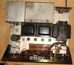 Vintage Knight KN780 Deluxe Stereo Amplifier Integrated Needs Tubes Repair Rare