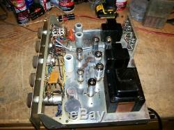 Vintage Knight Model Kn 728b. Integrated Tube Amplifier Works Great