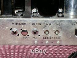Vintage Pilot Integrated Mono Tube Amplifier Hi-fi, Magnetic Input, Aux, Tuner