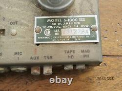 Vintage Sherwood S-1000 III Integrated Tube Amplifier All Original Nice
