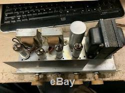 Vintage Vacuum Tube Stereo Amplifier 6bq5 Se